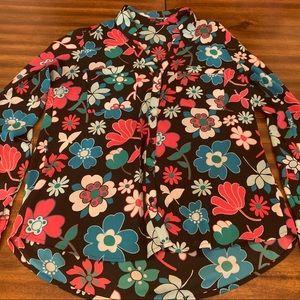 Express Size M Long Sleeve Floral Shirt
